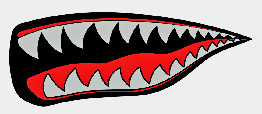 free vector clipart images download, Cartoons - Dientes De Tiburon Vector