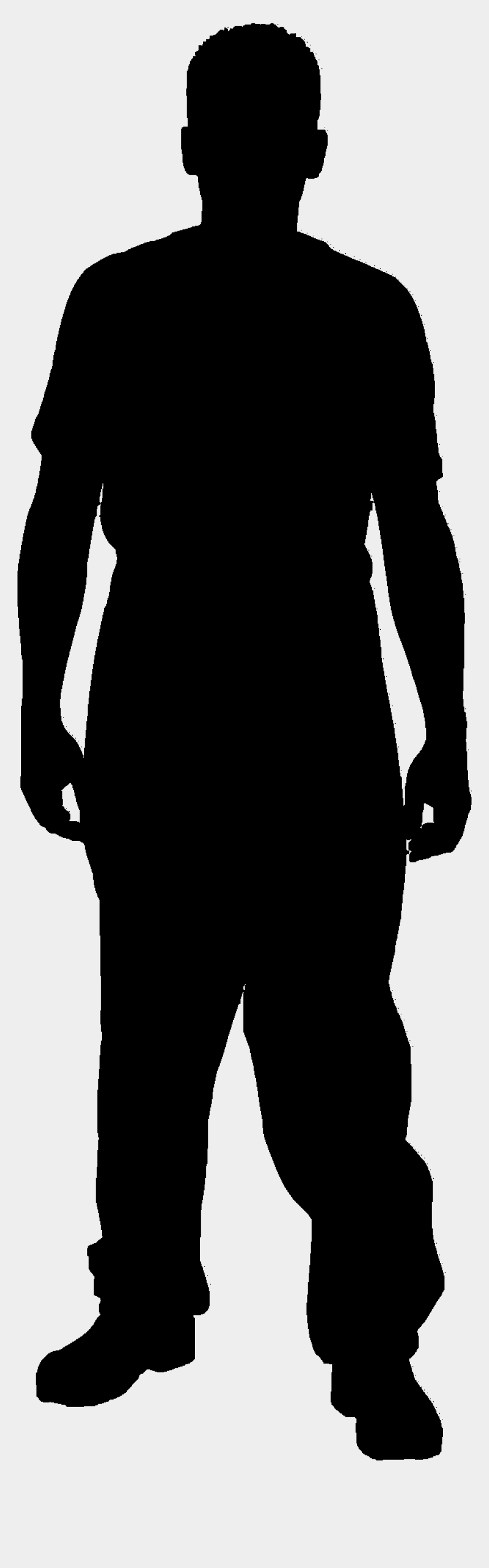 free vector clipart images download, Cartoons - Silhouette Standing Man Waiting