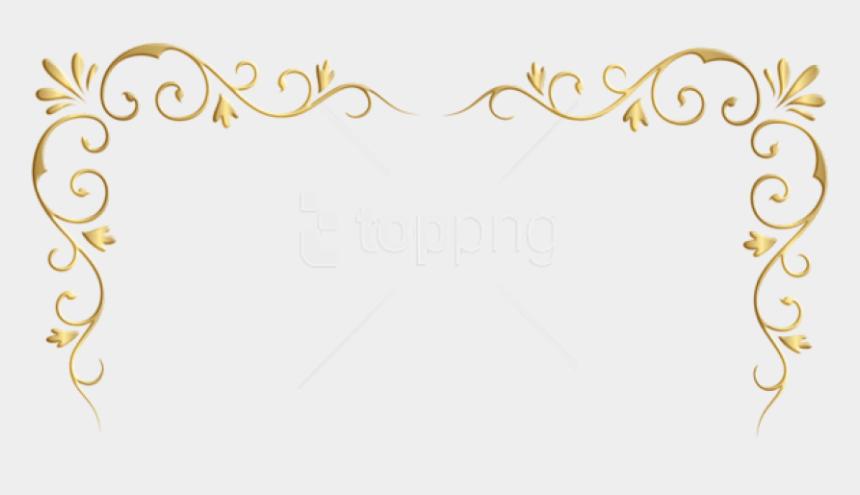 decorative corner clip art, Cartoons - Transparent Background Gold Corner Border