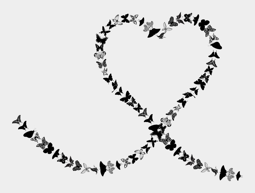 butterfly trail clipart, Cartoons - Heart