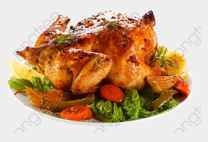 cooked chicken clip art, Cartoons - Chicken Roast Png