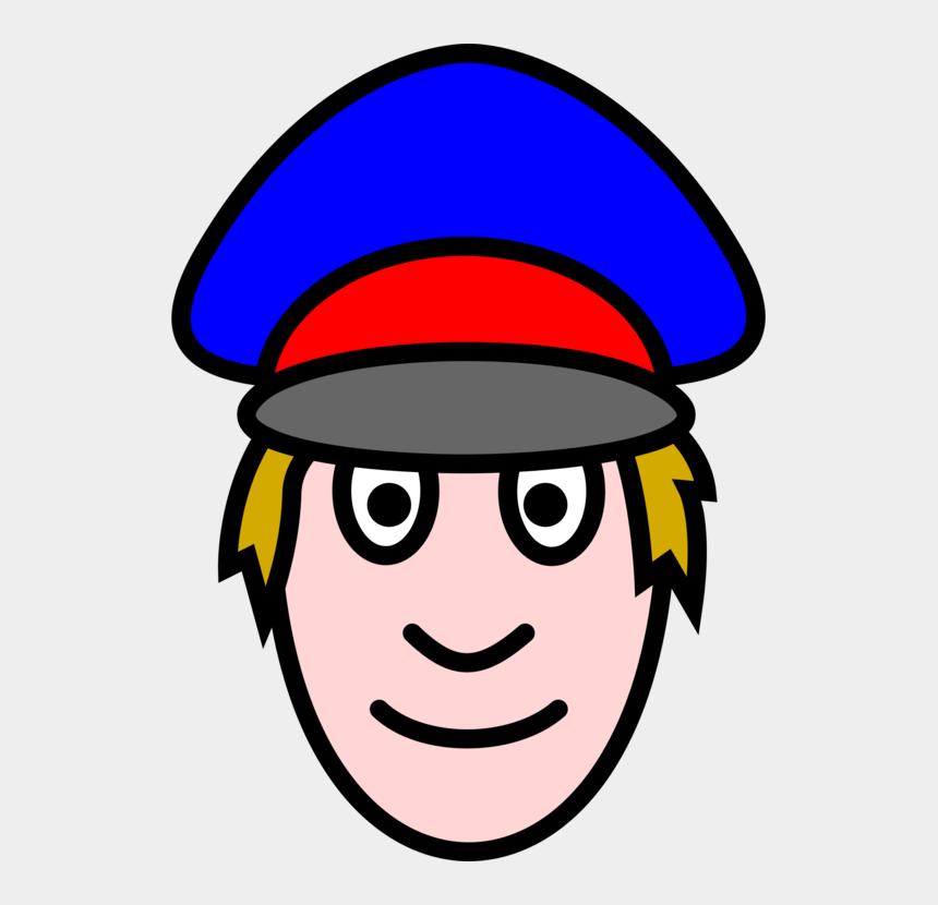 expression clip art, Cartoons - Police Oficer Face Clip Art