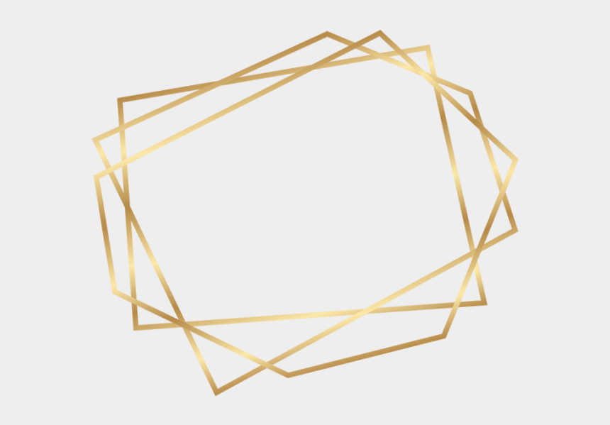 geometric border clipart, Cartoons - Geometric Gold Frames Png