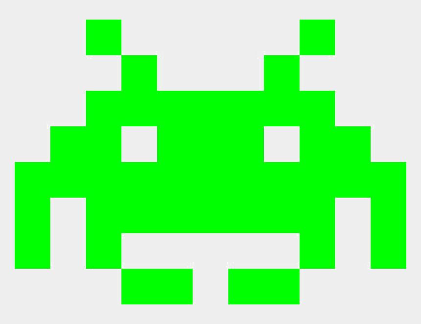 alien clipart transparent, Cartoons - Space Invader Alien Png