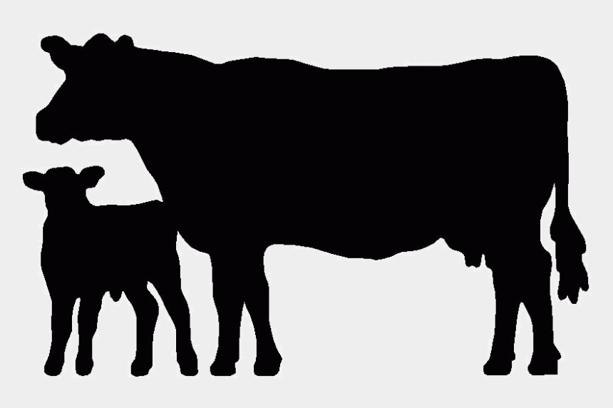 beef cattle clip art, Cartoons - Cow Calf Silhouette