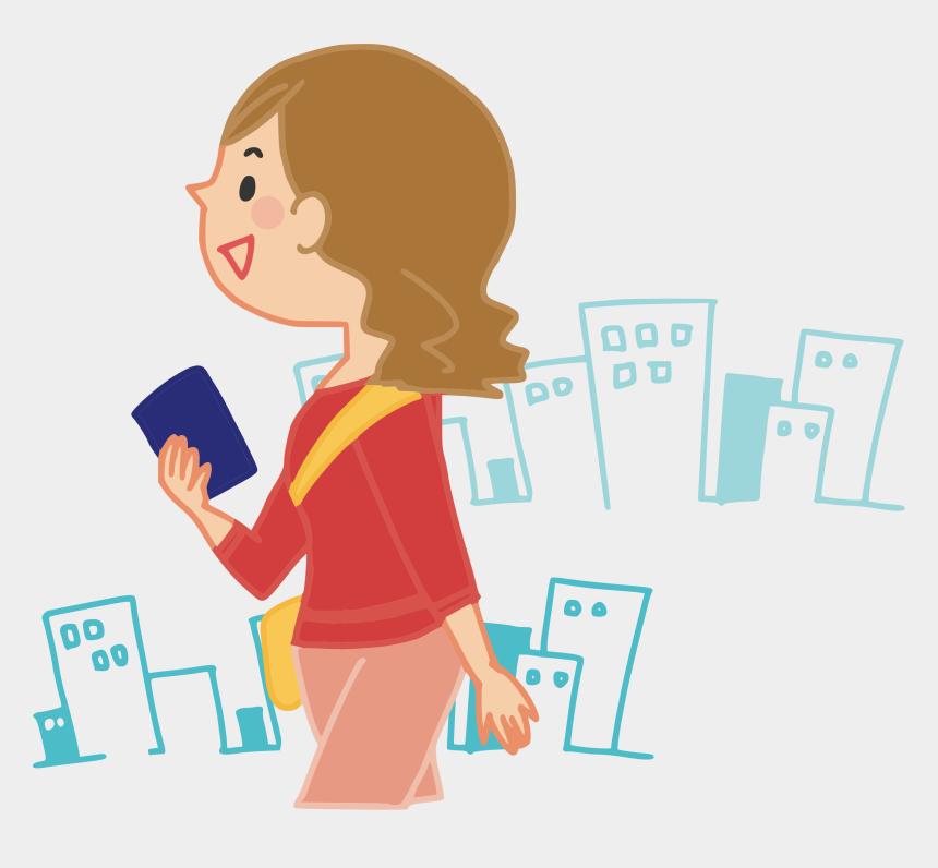 clipart tourist, Cartoons - 歩く イラスト フリー 素材
