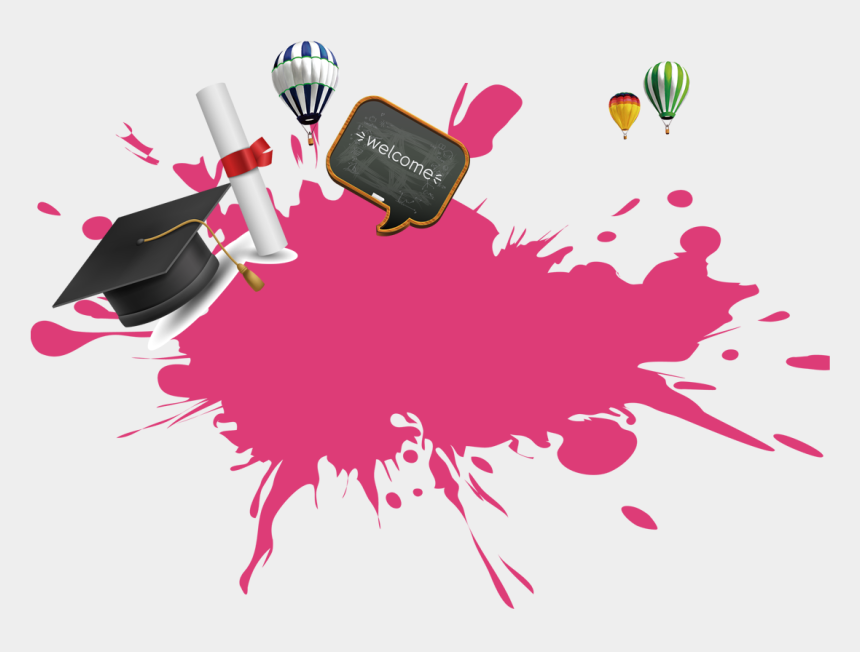 graduation cap clipart free, Cartoons - Graduation Background Design Pink