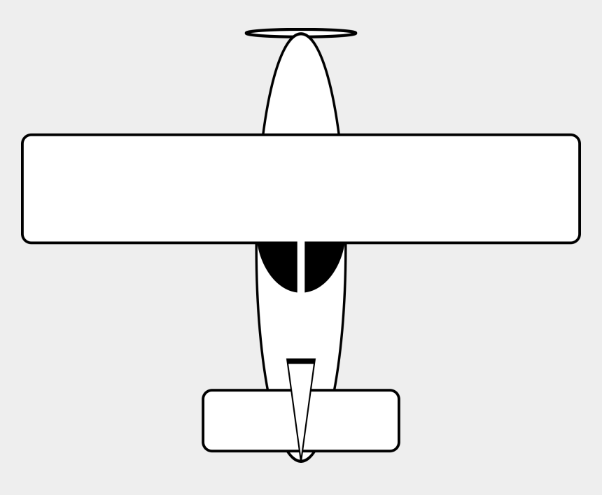 plane outline clip art, Cartoons - Airplane Top View Drawings