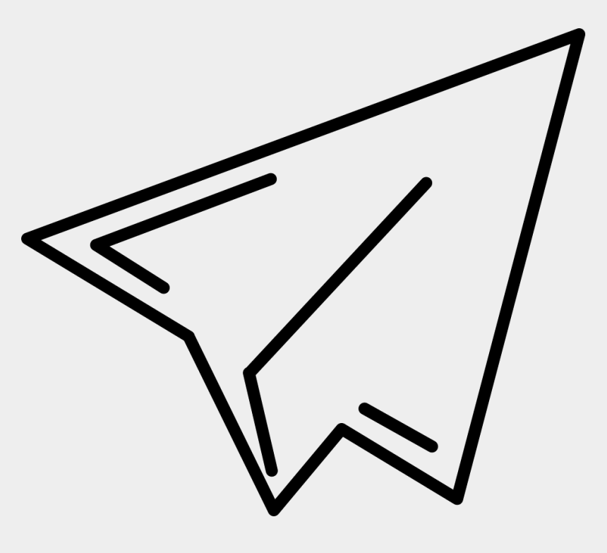 plane outline clip art, Cartoons - Paper Plane