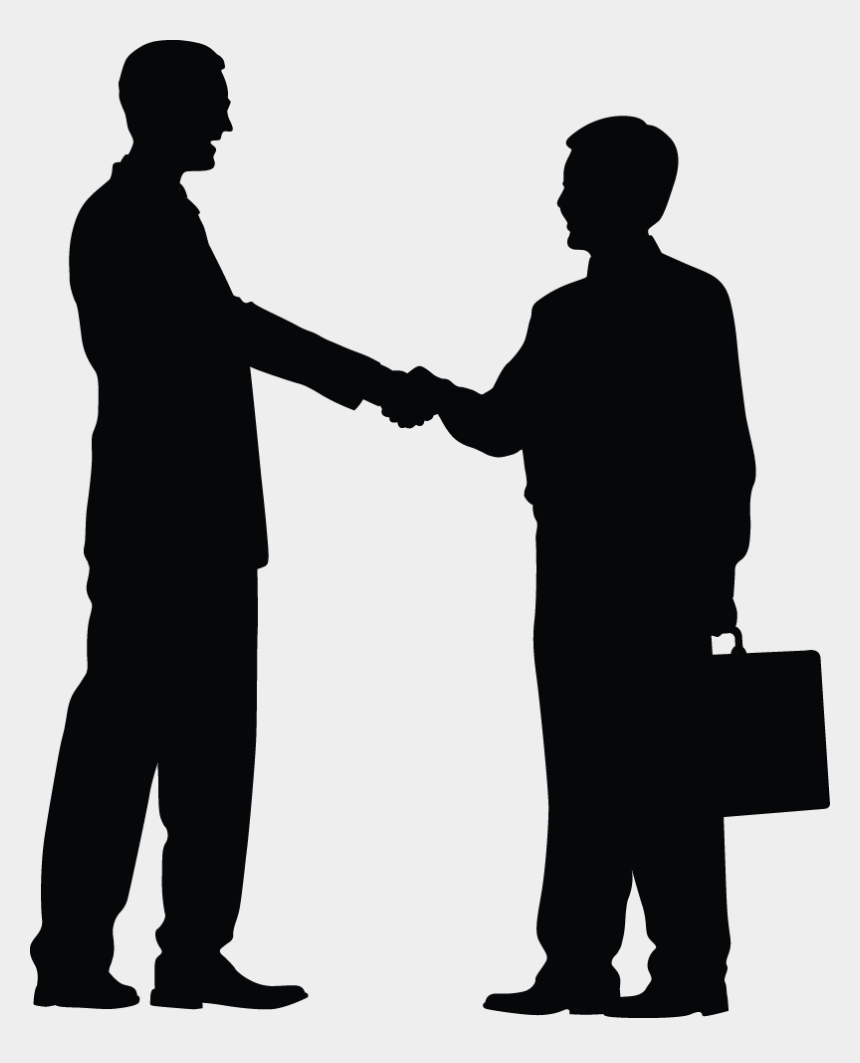 shaking hands clipart black and white, Cartoons - Businessman Shake Hand Clipart