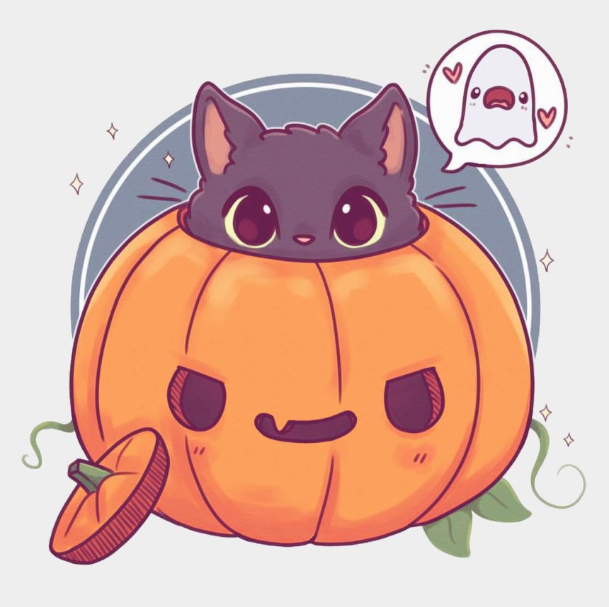Halloween Cute Cat Drawing Cliparts Cartoons Jing Fm