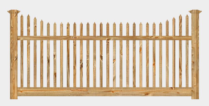 split rail fence clipart, Cartoons - Fence Alternating Pickets Lengths