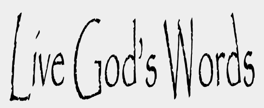 god s word clipart, Cartoons - Calligraphy