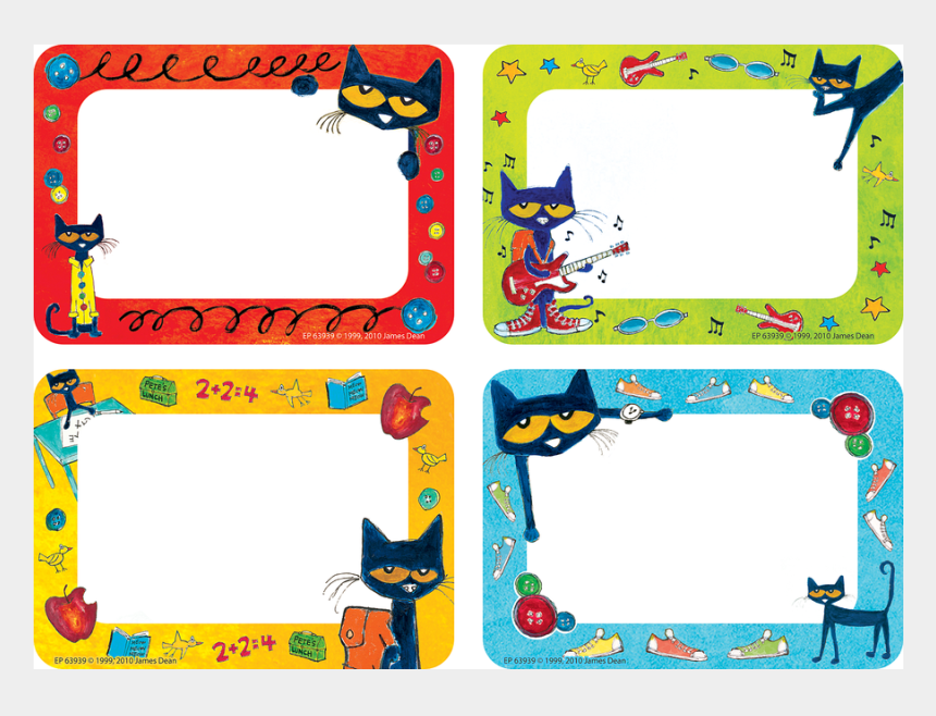 cat reading clipart, Cartoons - Pete The Cat Printable Name Tags