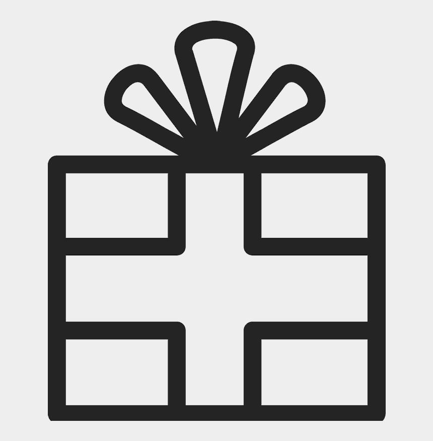 present outline clip art, Cartoons - Christmas Gift Outline Png