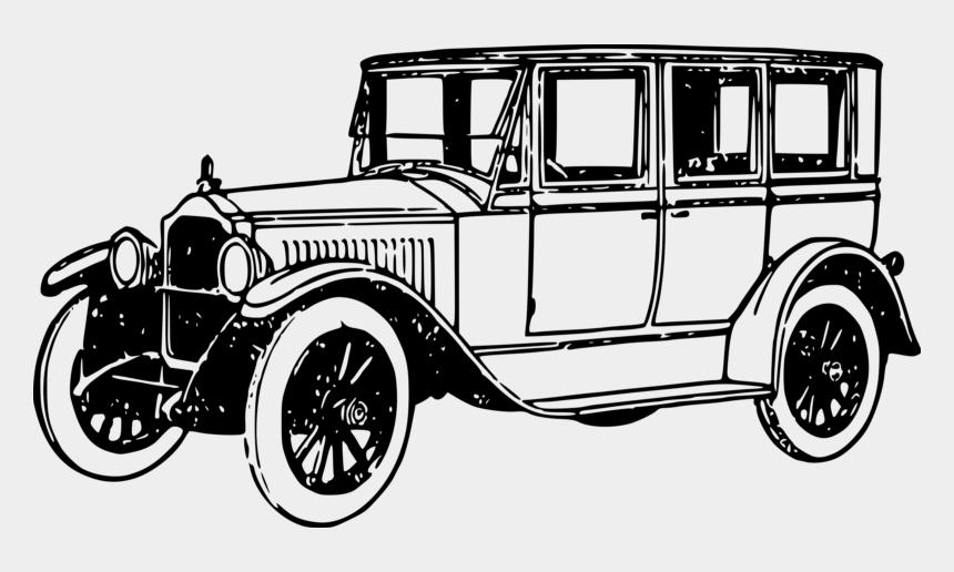 jeep wrangler clipart black and white, Cartoons - Vintage Car Clipart Black And White