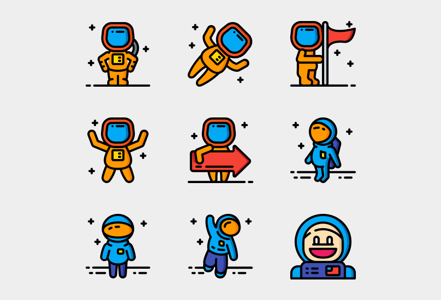 astronaut clipart transparent, Cartoons - Mother Earth Day Icon Set