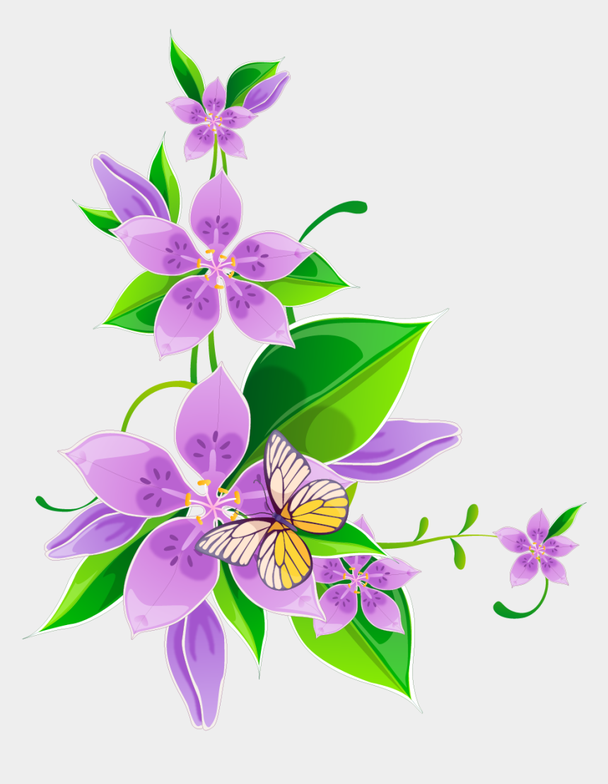 corner flowers clipart, Cartoons - Frames And Borders Design