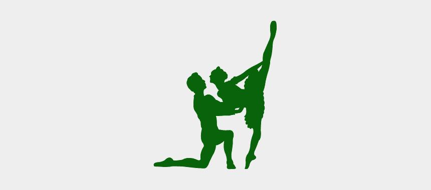 ballerina silhouette clip art free, Cartoons - Ballet Dancing Couple Silhouettes
