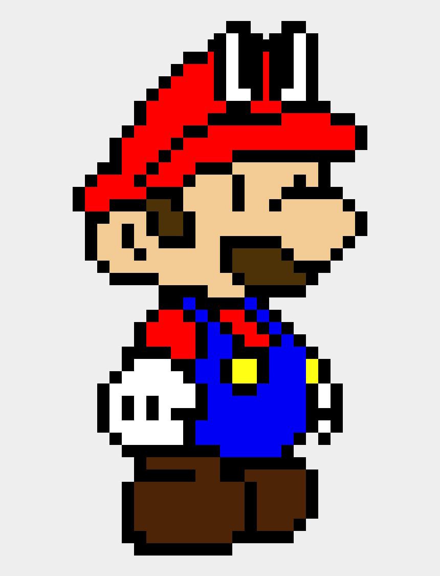 mario odyssey clipart, Cartoons - Paper Mario Pixel Art