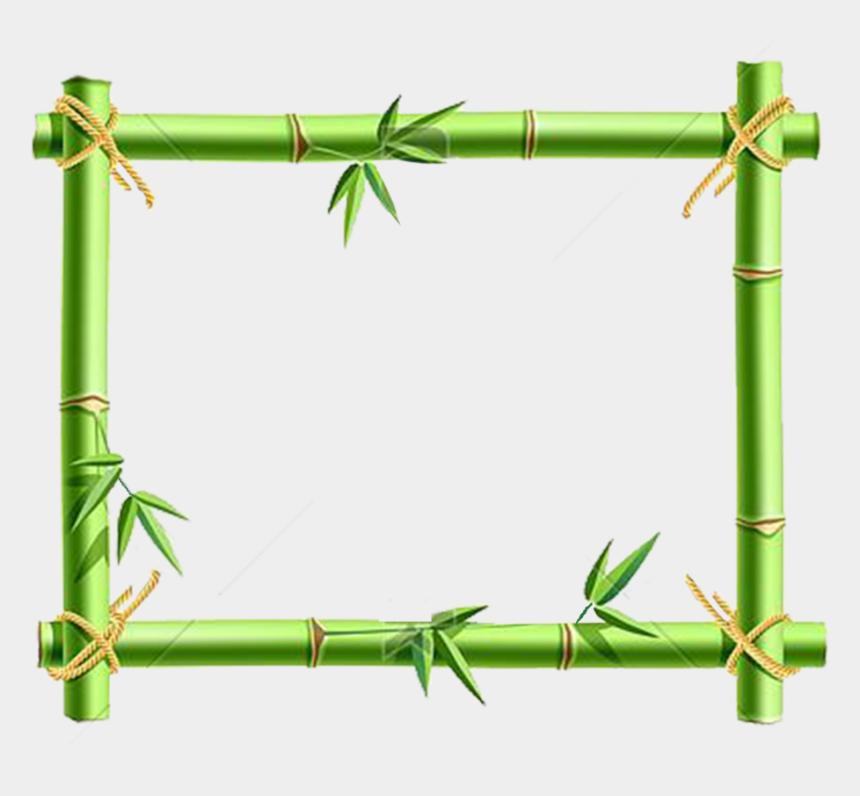 bamboo clipart border, Cartoons - Cadre Bambou Png