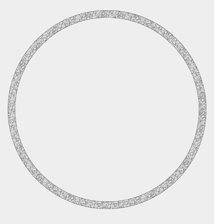 glitter frame clipart, Cartoons - Silver Glitter Circle Transparent