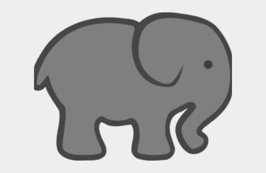 baby elephant clipart, Cartoons - Gray Clipart Baby Elephant - Elephant Clip Art