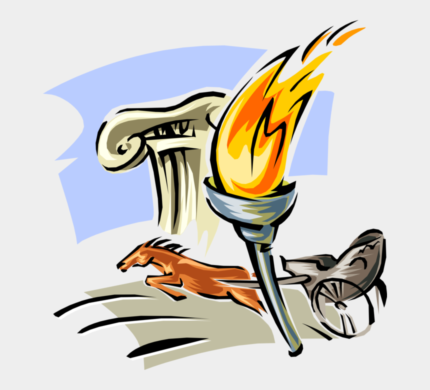torch clipart, Cartoons - Torch Clipart Ancient - Olympic Games Ancient Greece Clipart