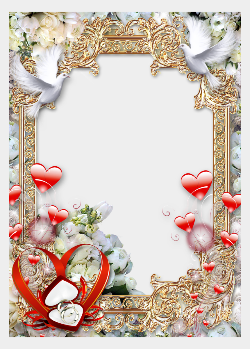 clipart hochzeit, Cartoons - Free Icons Png - Wedding Photo Frame Png