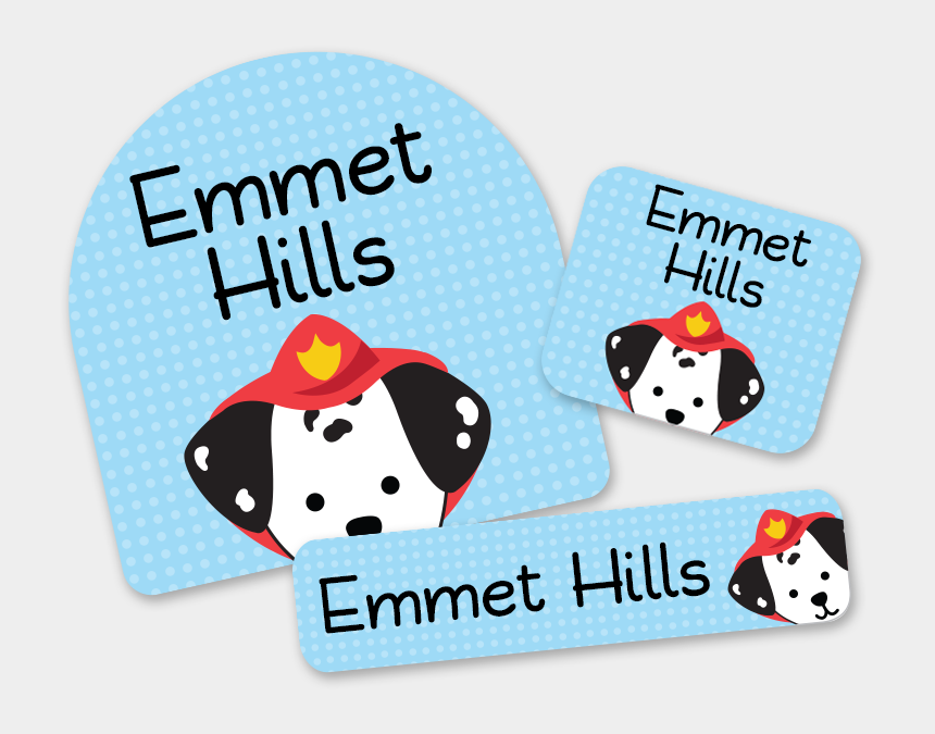 back to school clipart, Cartoons - First School Labels For Kids Dalmatian Dog Sparky