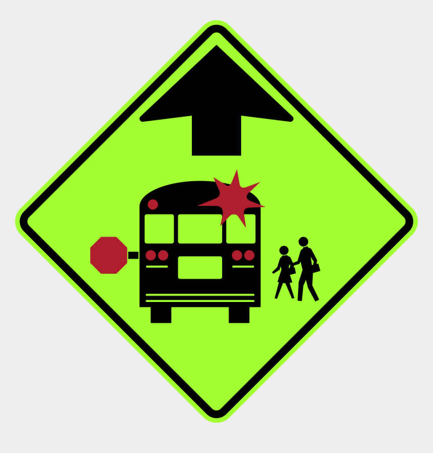 back to school clipart, Cartoons - Back To School- Students Head Back To The Classroom - School Bus Road Sign