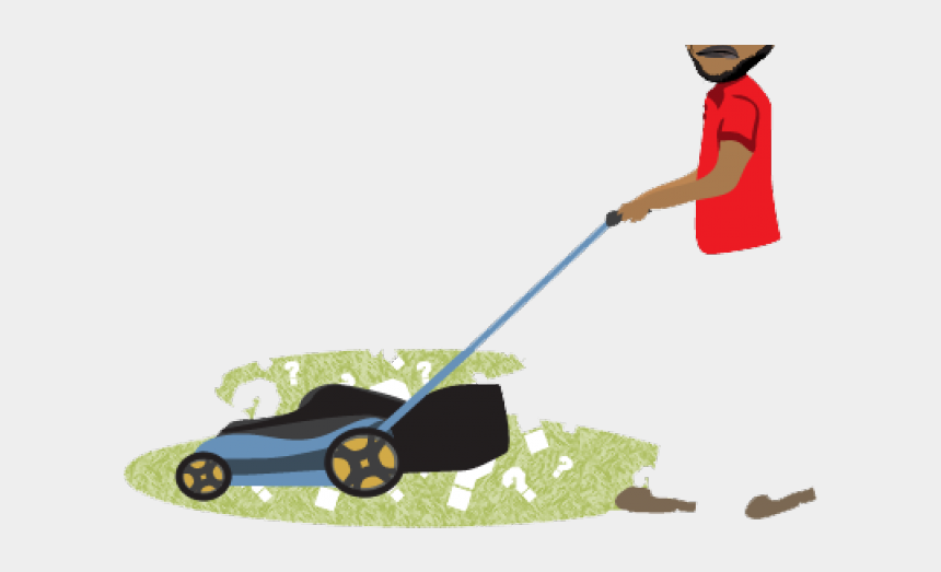 lawn mower clipart, Cartoons - Walk-behind Mower