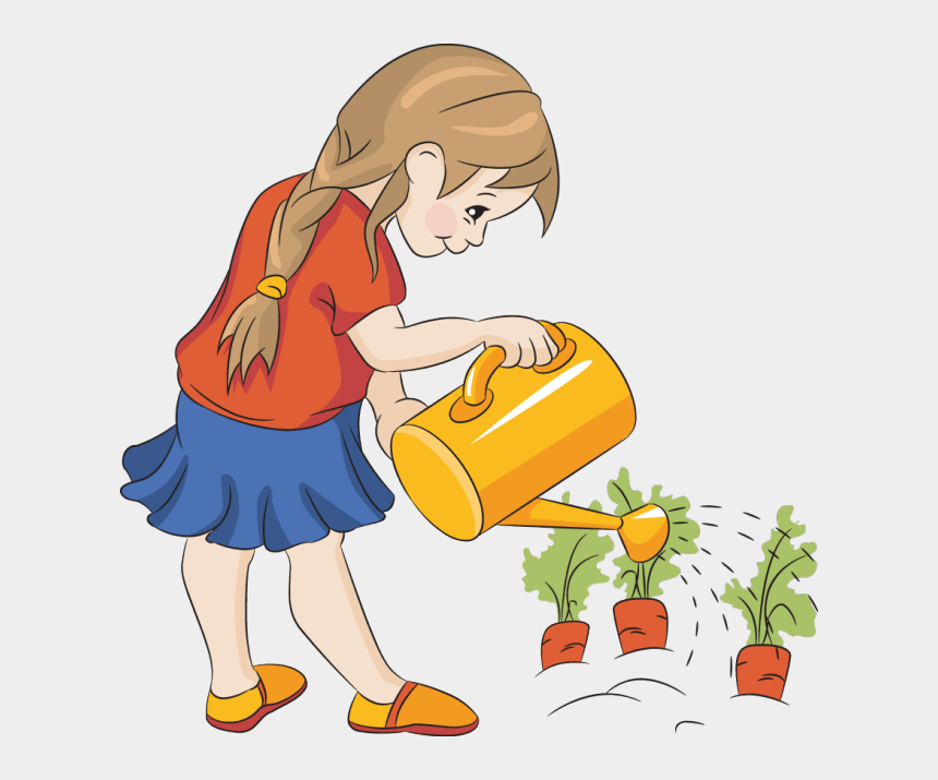 plants clipart, Cartoons - Watering Plants Clipart - Water The Plants Clipart