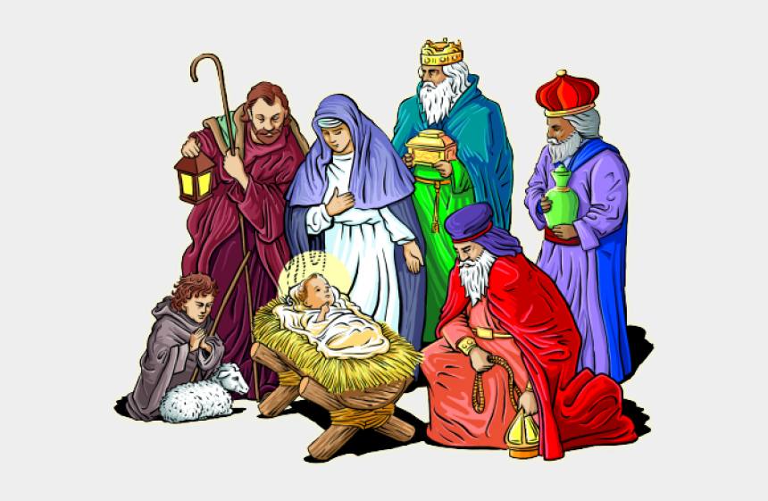 nativity scene clipart, Cartoons - Clipart Religious Christmas