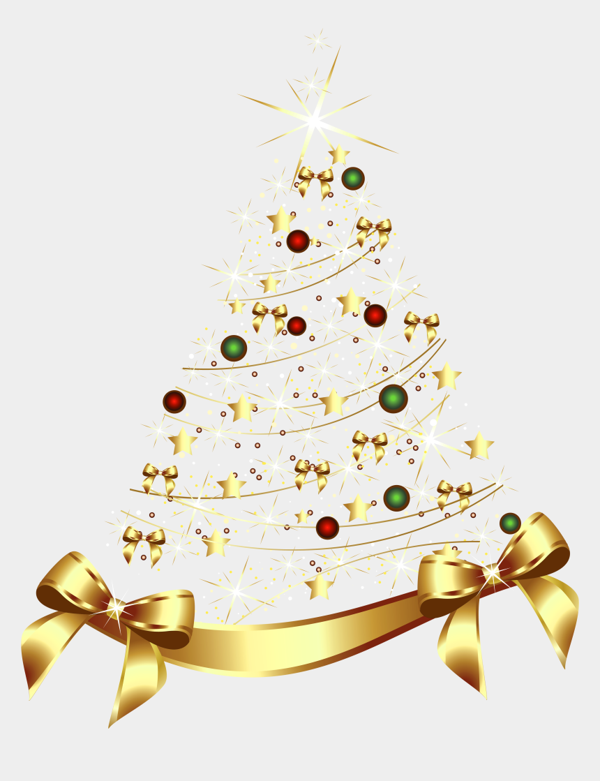 happy new year clipart, Cartoons - Golden Clipart Christmas - Transparent Gold Christmas Tree