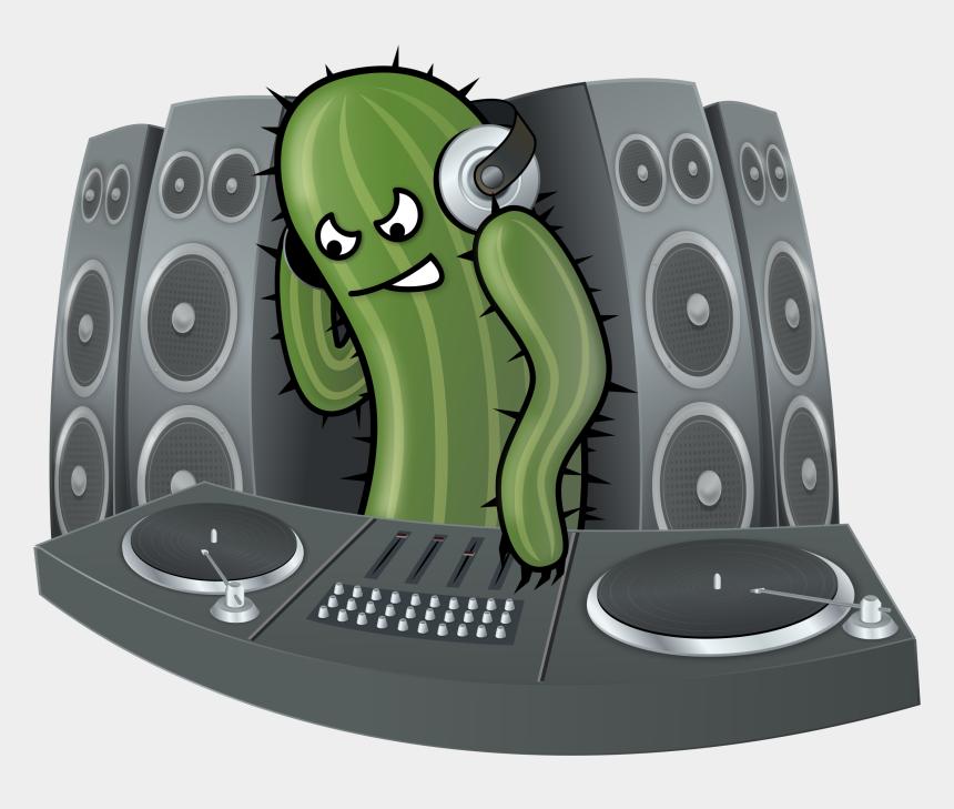 dj clipart, Cartoons - Free Dj Cactus - Dj Cactus