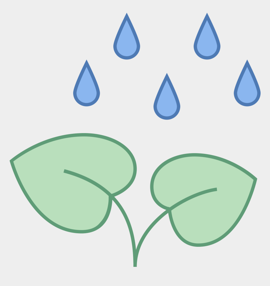 plants clipart, Cartoons - It's An Icon Of A Growing Plant With Rain Falling On - Rain On A Plant Clipart
