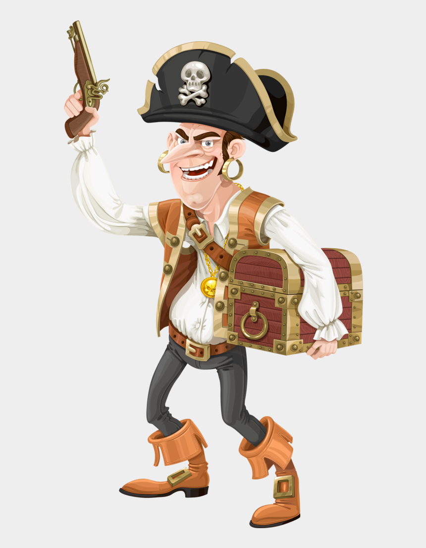 treasure chest clipart, Cartoons - Pirata - عكس تصوير زمينه دزدان دريايي