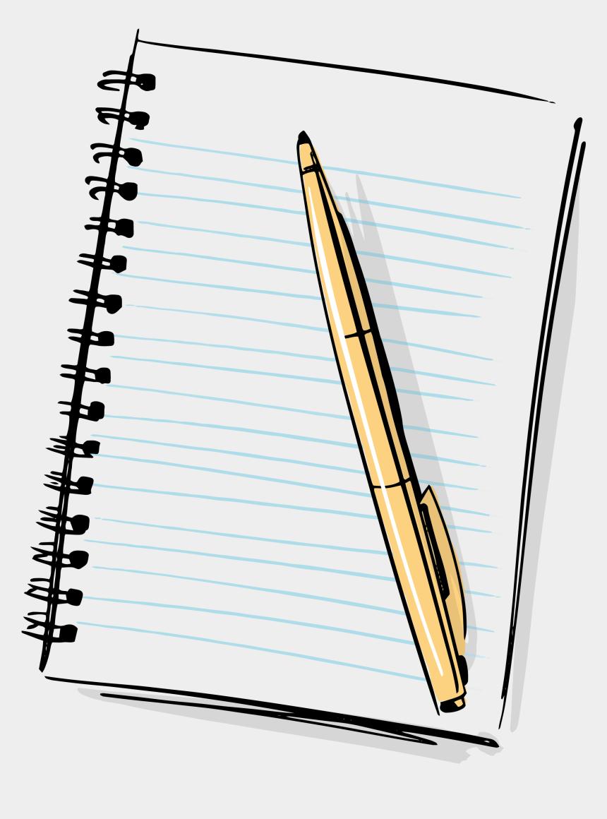 notebook clipart, Cartoons - Hd Cartoon Pencil And Paper - Notebook And Pen Clipart