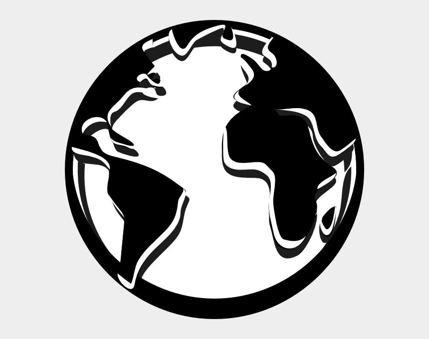 world map clipart, Cartoons - World Black And White Globe Map Clipart Black And White - White Globe Clip Art