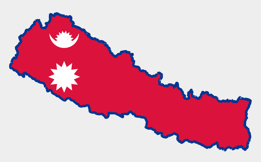 world map clipart, Cartoons - Nepal Map Clipart Free - Nepal Map With Flag