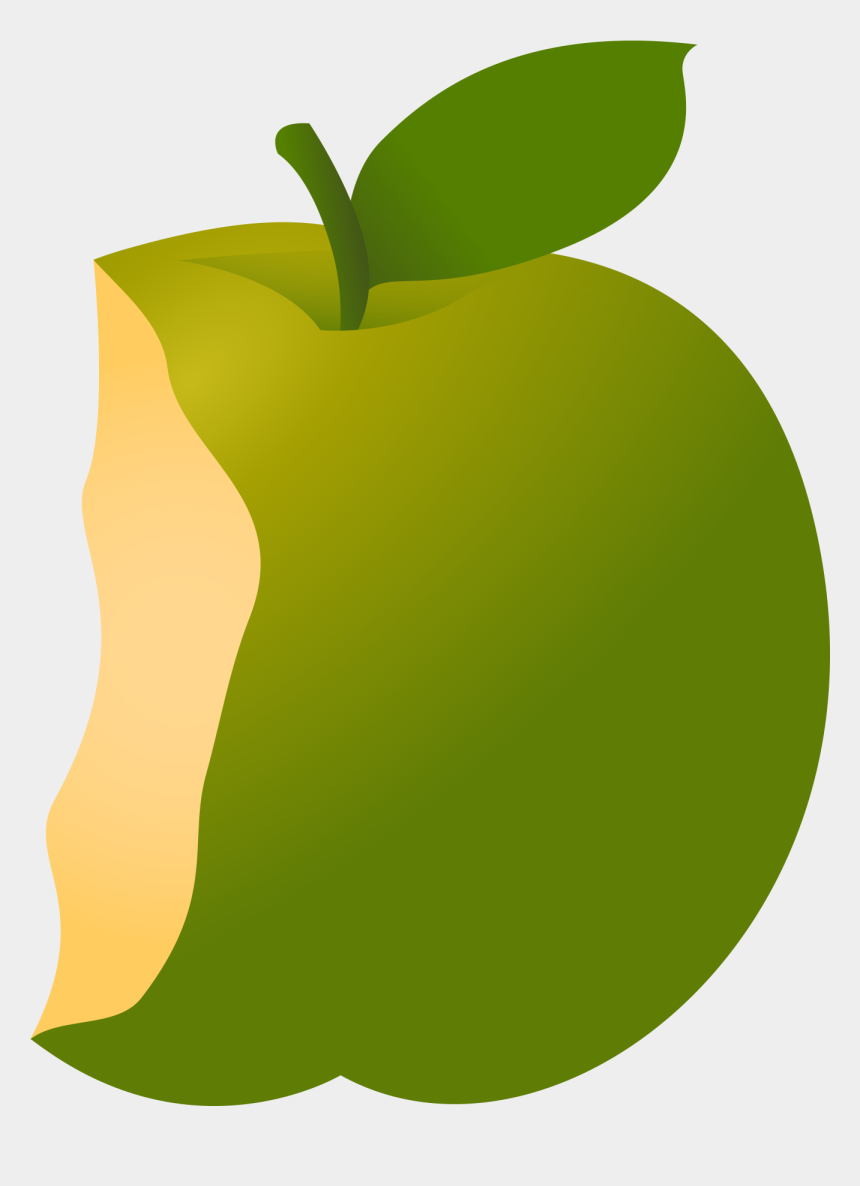 healthy food clipart, Cartoons - View Apple Bite Clipart - Granny Smith