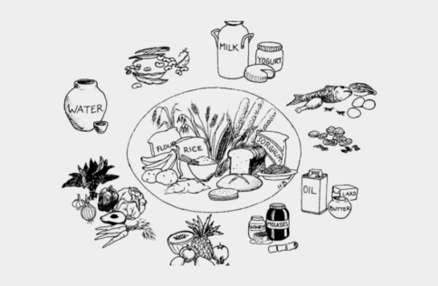 healthy food clipart, Cartoons - Healthy Food Clipart Glow Food - Types Of Food Black And White