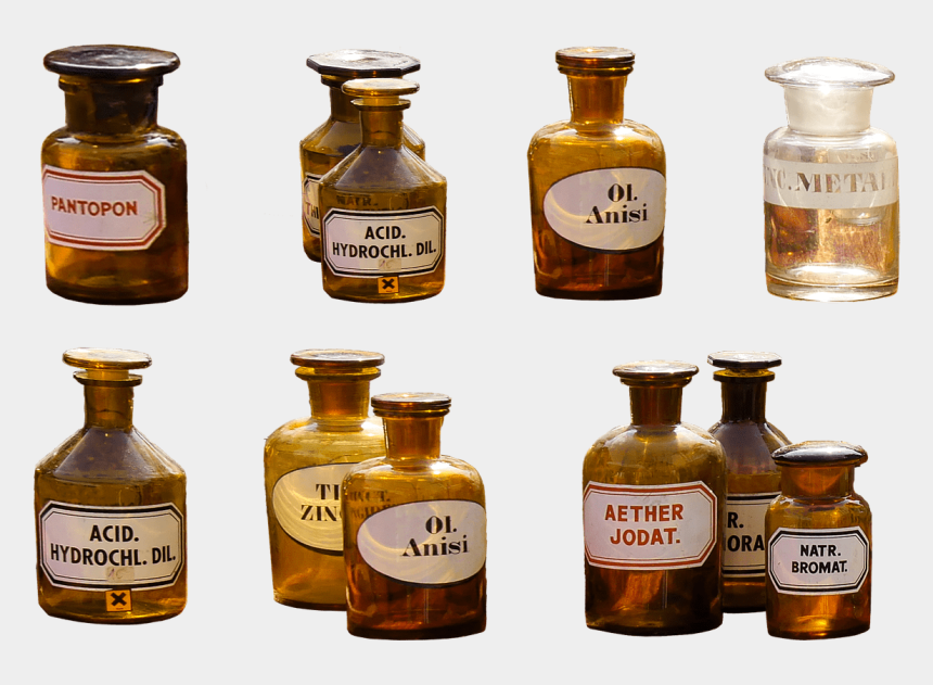 pharmacy clipart, Cartoons - Pharmacy, Isolated, Health, Medical - Old Medicine Bottles Png