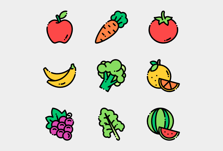 healthy food clipart, Cartoons - Produce Vector Healthy - Fruits And Vegetables Png