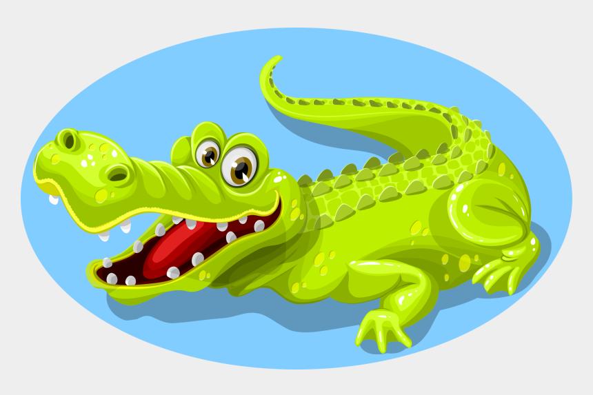 crocodile clipart, Cartoons - Crocodile, Green, Animal, Teeth, Reptile, Nature, Wild - Green Crocodile