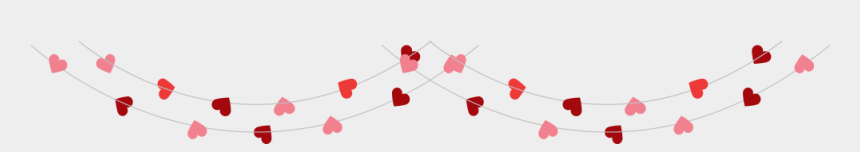 string of hearts clipart, Cartoons - Valentines Day String Of Hearts