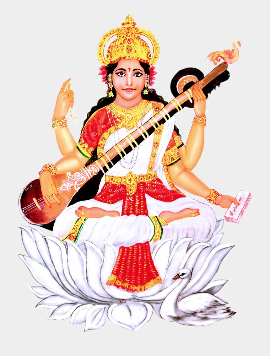 lord saraswathi clipart, Cartoons - Saraswati Image Hd Png