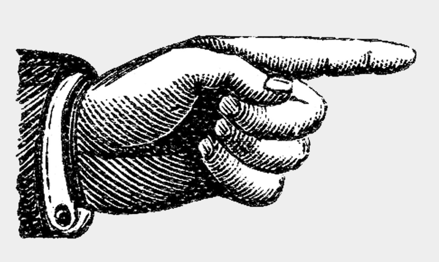 pointing finger clipart black and white, Cartoons - Vintage Finger Pointing