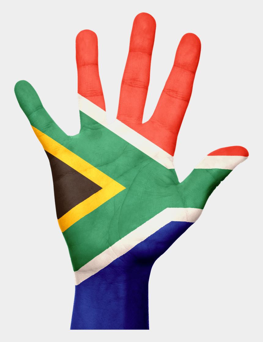 clipart africa, Cartoons - South Africa Flag Hand